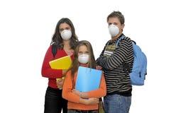 Het gevaar van de griep Stock Foto