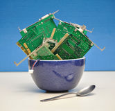 Het Gevaar van de technologie royalty-vrije stock afbeeldingen