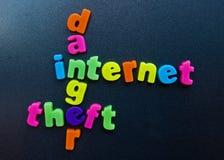 Het gevaar van Internet. Stock Fotografie