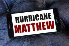 Het gevaar van orkaanmatthew Stock Fotografie