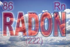 Het gevaar van radongas - conceptenbeeld stock foto