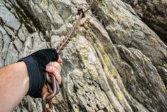 Het gevaarlijke Beklimmen stock foto's