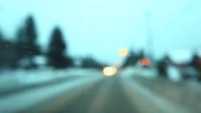 Het gevaarlijke drijven in de winter stock videobeelden
