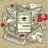 Het gevaarlijke Ontwerp van de Computer Stock Afbeeldingen