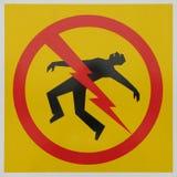 Het gevaarsteken van de elektrocutie Royalty-vrije Stock Fotografie