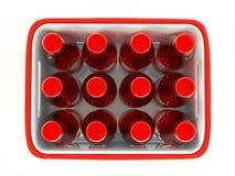 Het geval van flessen stock illustratie