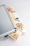 Het geval van het geld Stock Foto