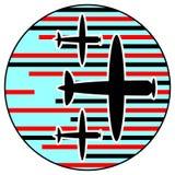 Het gevecht van de lucht Stock Afbeeldingen