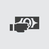 Het geven van de illustratie van het geldpictogram stock illustratie
