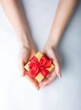 Het geven van een gift Stock Fotografie