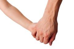Het geven van een hand Stock Foto