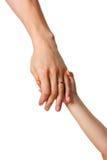 Het geven van een hand Stock Afbeelding