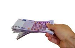 Het geven van geld stock afbeeldingen