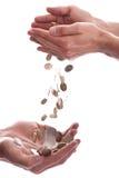 Het geven van geld Stock Foto