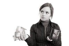 Het geven van geld Stock Fotografie