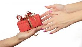Het geven van gift Royalty-vrije Stock Fotografie