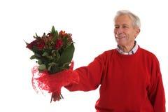 Het geven van haar bloemen Stock Fotografie