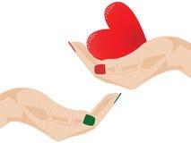 Het geven van hart Stock Afbeelding