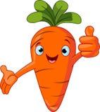 Het geven van het Karakter van de wortel beduimelt omhoog Royalty-vrije Stock Foto's