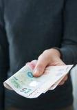 Het geven van ponden royalty-vrije stock afbeelding