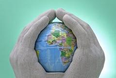 Het geven Wereld Stock Afbeelding