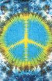 Het geverfte patroon van het vredesteken band op katoenen stof voor achtergrond Stock Afbeeldingen