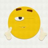 Het gevoelde Emoticon-Knipogen Stock Foto's