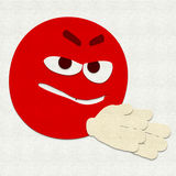 Het gevoelde Emoticon-Plannen Stock Foto