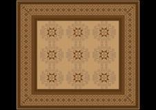 Het gevoelige patroon van het tapijt in bruine schaduwen Stock Foto's