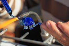 Het gevoelige werk van de glasventilator Stock Foto