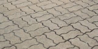 Het gevormde cement van de baksteengang Royalty-vrije Stock Afbeeldingen