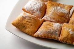 Het gevulde gebakje van de abrikoos jam Stock Foto