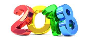 het gewaagde kleurrijke de brieven van 2018 3d teruggeven vector illustratie