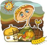 Het Gewas van de Landbouwer van de mens vector illustratie