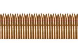 Het geweer bullets op een rij Stock Afbeeldingen