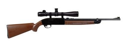 Het geweer van de lucht met riflescope Royalty-vrije Stock Foto