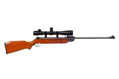 Het geweer van de lucht met riflescope Stock Foto
