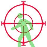 Het geweergezicht of werkingsgebied van de sluipschutter Stock Afbeelding