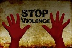 Het geweld van het einde tegen vrouwen Stock Foto's