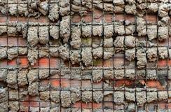 Het geweven cement en het staal cobbled muurachtergrond Royalty-vrije Stock Afbeeldingen
