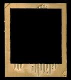Het geweven frame van kartonpolaroid Stock Foto