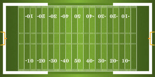 Het geweven Gebied van de Gras Amerikaanse Voetbal