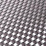 Het geweven metaalpatroon van Chrome zilver Stock Foto