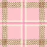 Het geweven patroon van de geruite Schotse wollen stofplaid Stock Afbeelding