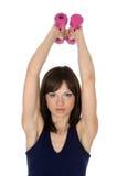 Het gewicht van de oefening omhoog Stock Afbeelding