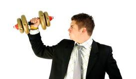 Het gewicht van de zakenman Royalty-vrije Stock Foto