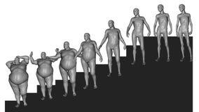 Het gewicht van het verlies (Resultaat van dieet) Stock Afbeelding