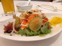 Het Gewichtsverlies Dinne van de zalmsalade royalty-vrije stock afbeelding