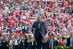 Het gewone congres van AK Party s vierde in Istanboel stock fotografie