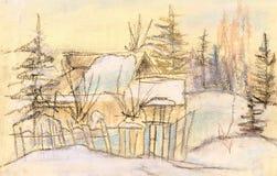 Het geworpen huis vector illustratie